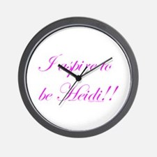 Aspire 2 Be Heidi Wall Clock