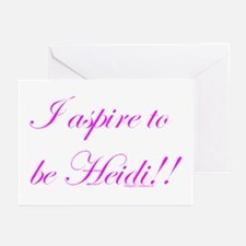 Aspire 2 Be Heidi Greeting Cards (Pk of 20)