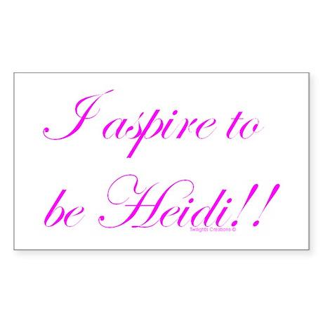 Aspire 2 Be Heidi Rectangle Sticker
