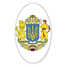 Ukraine Coat of Arms Oval Decal