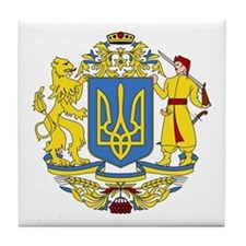 Ukraine Coat of Arms Tile Coaster