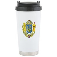Ukraine Coat of Arms Travel Mug