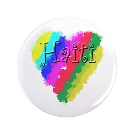 "I Love Haiti Heart 3.5"" Button (100 pack)"