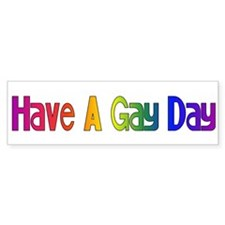 Gay Day Bumper Bumper Sticker