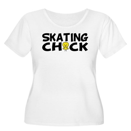 Skating Chick Women's Plus Size Scoop Neck T-Shirt