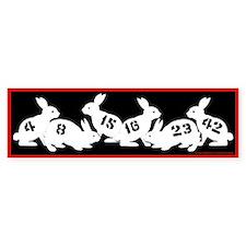 Lost Number Bunnies Bumper Bumper Bumper Sticker