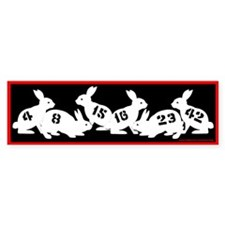 Lost Number Bunnies Bumper Bumper Sticker