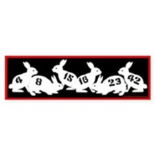 Lost Number Bunnies Bumper Stickers