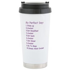 Funny Crochet Travel Mug
