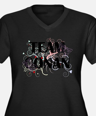 Team Conan Women's Plus Size V-Neck Dark T-Shirt