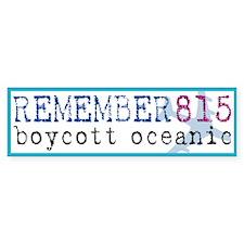 Boycott Oceanic Bumper Bumper Sticker