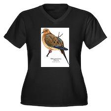 Mourning Dove Women's Plus Size V-Neck Dark T-Shir