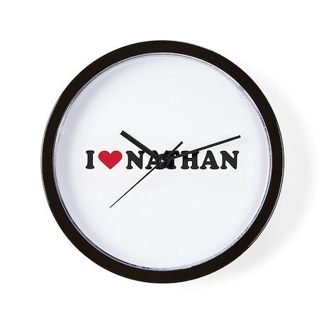 I LOVE NATHAN ~ Wall Clock