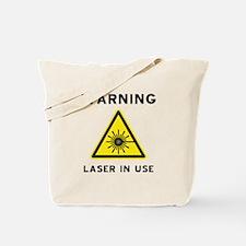 Laser Warning Symbol Tote Bag
