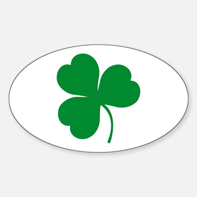 Ireland Irish Clover Oval Decal