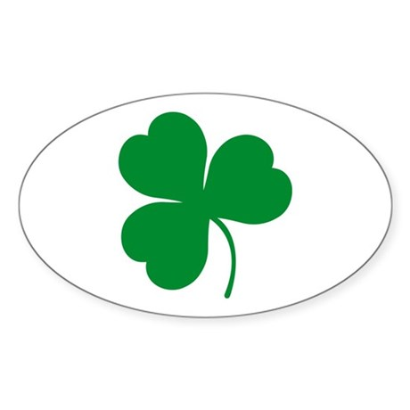Ireland Irish Clover Oval Sticker