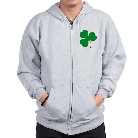 Ireland Irish Clover Zip Hoodie