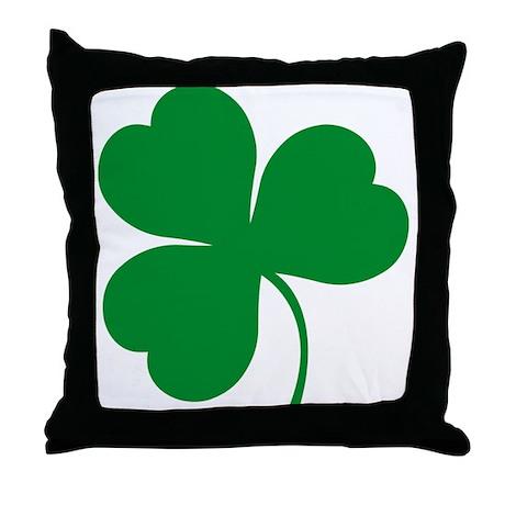 Ireland Irish Clover Throw Pillow