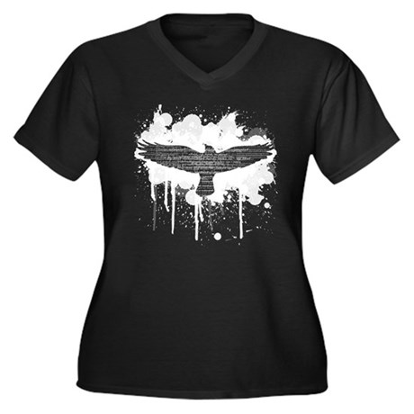 The Raven Women's Plus Size V-Neck T-Shirt