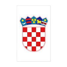 Croatia Coat of Arms Rectangle Decal