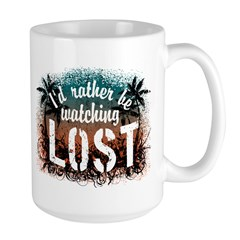 Watching Lost Large Mug