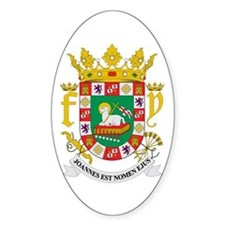 Puerto Rico Coat of Arms Oval Decal