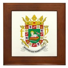 Puerto Rico Coat of Arms Framed Tile