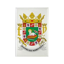 Puerto Rico Coat of Arms Rectangle Magnet