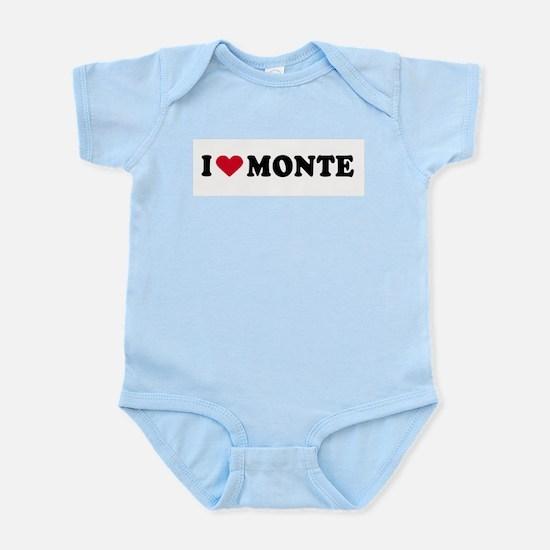 I LOVE MONTE ~  Infant Creeper