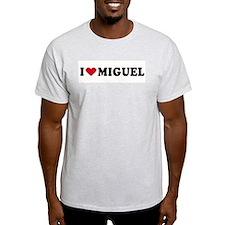 I LOVE MIGUEL ~  Ash Grey T-Shirt