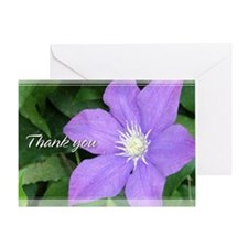 Purple Clematis Thank You Card 5x7