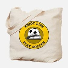 Enjoy Life Play Soccer Tote Bag