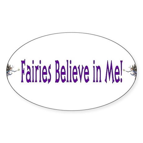 Fairies Believe In Me Oval Sticker