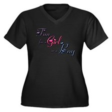 Boys or Girls Women's Plus Size V-Neck Dark T-Shir