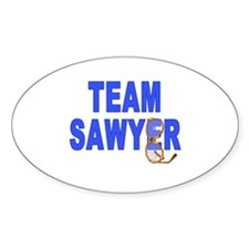 Lost TEAM SAWYER Oval Decal