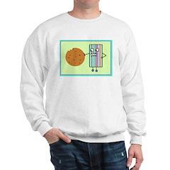 A Friendly Cookie Monster Adults Sweatshirt