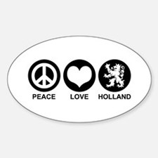 Peace Love Holland Oval Decal