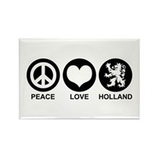 Peace Love Holland Rectangle Magnet