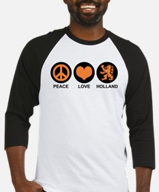 Peace Love Holland Baseball Jersey