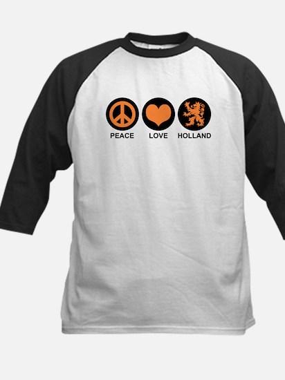 Peace Love Holland Kids Baseball Jersey