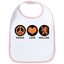 Peace Love Holland Bib