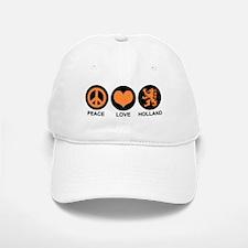 Peace Love Holland Baseball Baseball Cap