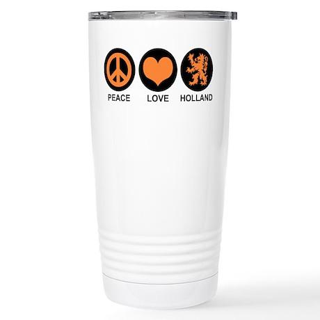 Peace Love Holland Stainless Steel Travel Mug