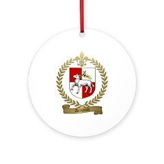 ARNAULT Family Crest Ornament (Round)