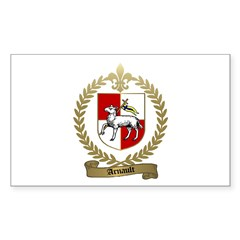 ARNAULT Family Crest Rectangle Decal