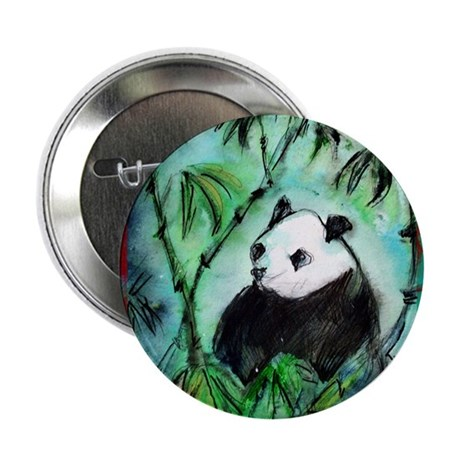 """Panda with Bamboo 2.25"""" Button (10 pack)"""