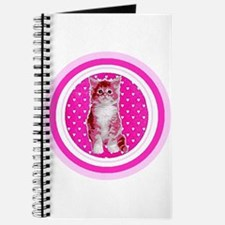 Pink Kitten Unlined Pink Journal Note Pad