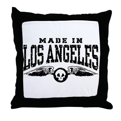 Made In Los Angeles Throw Pillow