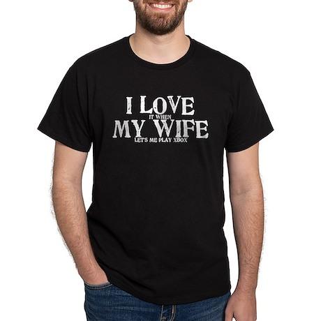 I love my wife Xbox funny Dark T-Shirt