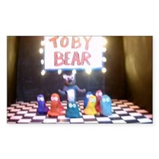 Toby Bear Rectangle Decal